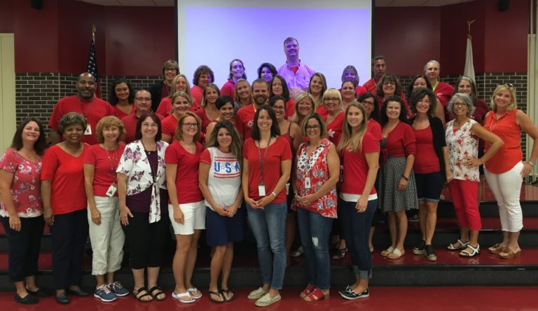 Goetz Middle School Teachers Go RED! (Jackson School District)